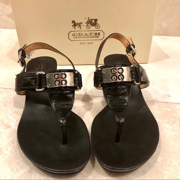 Coach Shoes - Coach Silver-plate Sandal